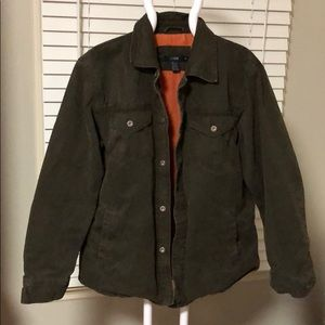 J. Crew olive green men's field jacket. Medium.